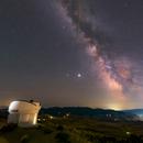 Milky Way with Saturn and Jupiter,                                Debra Ceravolo
