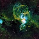 NGC3582 Statueof Liberity Nebula HOO,                                Brent Jaffa