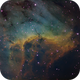 Pelican Nebula Detail - Hubble Palette,                                Andrew Barton