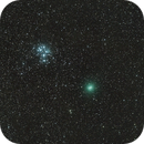 pleiades star cluster and Comet 46p,                                Nathan Morgan (Th...