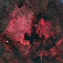 Nortamerica and Pelican Nebula,                                zirl