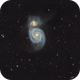 M51 (The Whirpool Galaxy), NGC5195, IC4263, IC4278, IC4282 and many other galaxies,                                kmachhi
