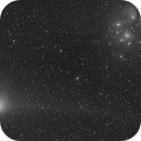 Comet Machholz near M45 on 2005-01-08,                                erdmanpe