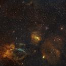 Bubble nebula with SH 2-157 and SH 2-161,                                Janos Barabas