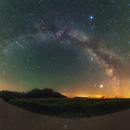 Airglow and the July Milky Way,                                Łukasz Żak