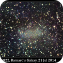 NGC 6822, Barnard's Galaxy, 21 July 2014,                                David Dearden