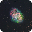M1 Crab Nebula SHO Hubble Palette (Quick 1 Night Capture ),                                Brandon Tackett