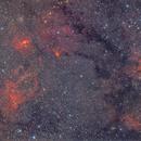 Claw Nebula & NGC7635 Bubble Nebulae & Cave Nebula & M52,                                KojiTajima