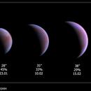 Venus phase and size evolution,                                Łukasz Sujka