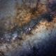 The Galactic core (panel B), DSLR image.,                                Kees Scherer