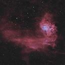 IC 405 • Flaming Star Nebula HOO,                                Mikael De Ketelaere