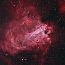 M17 - Omega Nebula Bicolor,                                Mike Hislope