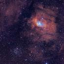 The Bubble Nebula NGC7635 and M52,                                Arnaud Peel