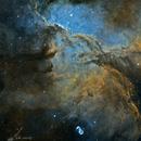 Galactic Scavengers (NGC 6188, NGC 6193, NGC 6165) in Hubble Palette,                                Todd