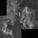 North America and pelican nebulas mosaic,                                lukfer