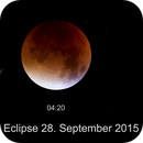 Lunar eclipse - 28.09.2015 and viewpoint,                                Wolfgang Zimmermann