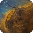 HH 555 in the head of the pelican nebula,                                Christoph Lichtblau