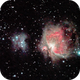 Flame, Horsehead, Running Man and Great Orion Nebulae widefield,                                DustSpeakers