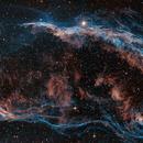 Mosaic : Veil nebula East part -NGC6960 and  Pickering 's triangle,                                Arnaud Peel
