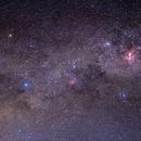 First try with Sky Tracker Pro -  Crux & Eta Carinae Nebula region,                                Marcelo Alves
