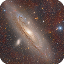 Andromeda Galaxy with Ha Clouds,                                Dennis Sprinkle