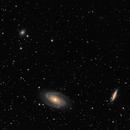 M81 & M82 large area - LRGB,                                Rodolphe Goldsztejn