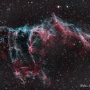 East Veil Nebula NGC6995 - HOO,                                wei-hann-Lee