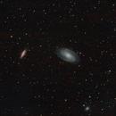 M81 & M82 Bode's galaxies / Canon 600D + SW 80ED PRO / SW EQ M-35 / SIRIL 0.9.12,                                patrick cartou