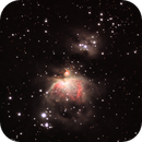 M42 Orion Nebula and NGC1977 Running Man Nebula,                                Cadmonkeychris