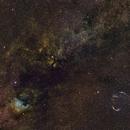 Cygnus region 35mm SHO crop,                                William Fewster
