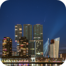 Comet Neowise above the city of Rotterdam,                                Andre van der Hoeven
