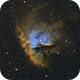 NGC 281 Pacman Nebula SHO,                                Drew Hastings