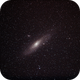 """M31 """"Andromeda Nebula"""" with 200mm and EOS600D,                                Norbert Reuschl"""
