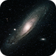 M31, the Andromeda Galaxy,                                 degrbi