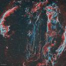 Veil Nebula wide field HOO,                                Girish