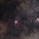 NGC6604, M16 and M17,                                Rodrigo Andolfato