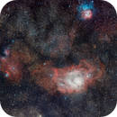 Lagoon and Trifid nebula,                                Frigeri Massimiliano
