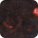 Rosetta and Christmas tree nebulas,                                Santiago Giralt