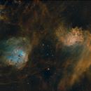 Flaming Star, Tabdole and Spider nebula (IC 405, 410, 417),                                Thomas Ammann