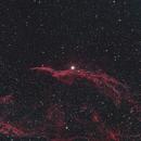 My first attempt on veil nebula - Ha+OSC,                                Qwiati