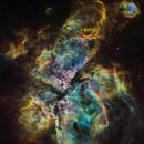 Eta Carina Nebula in HST palette,                                John Ebersole