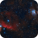 B33 and M42: Horsehead and Orion nebulae widefield,                                FlapAstro