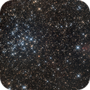 Visual deception: An open cluster  and a distant nebula...,                                Antonio F. Sánchez