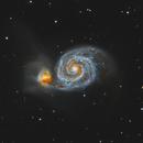 M51 Whirlpool Galaxy 20210506 4800s LRGB 1.3.2,                                Allan Alaoui