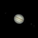 Jupiter & Europa (gauche), Ganymède et Io (droite),                                Daniel Beaulieu