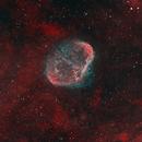 Crescent Nebula HOO (First Narrowband Image),                                Frank Turina