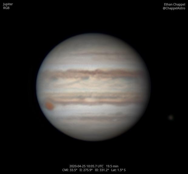 Jupiter with GRS & Callisto,                                Chappel Astro