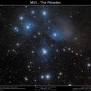 M45 - The Pleiades,                                Brice Blanc