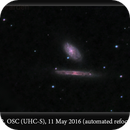 NGC 4298 & 4302, OSC (UHC-S), 11 May 2016 (automated refocusing first light),                                David Dearden