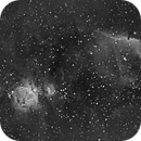 Orion, Horsehead, and Flame Nebulae @ 200mm in Ha,                                JDJ